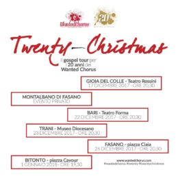 Twenty-Christmas il tour di Natale dei Wanted Chorus